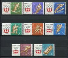 20427) HUNGARY 1963 MNH** Nuovi** Olympic Games Insbruck 8v