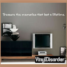 Treasure the memories that last Wall Quote Mural Decal-familyphotosquotes22