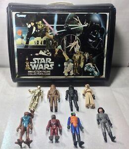 Rare Vintage 1978 Star Wars Action Figures Lot & Collector's Case