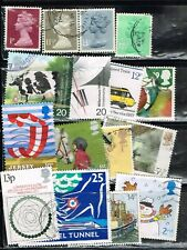 (14-247) 16 Assorted Cancelled Uk Postage sTamps