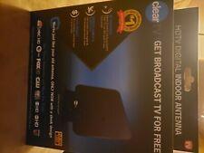 ClearTV HDTV Digital Indoor Antenna Amplifying  Broadcasting Antenna Flat Black