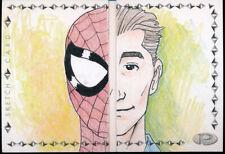 2019 Marvel Premier Marlo Agunos Spider-Man Dual Panel Sketch Card 1/1
