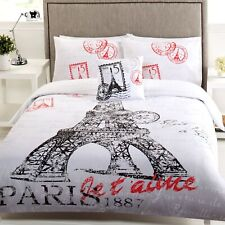 6 Piece Bon Reve Eiffel Tower Bed Pack - Quilt, Quilt Cover Set, Cushion, Fitted