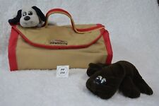 Clearance! VTG 1986 Pound Puppy/Puppies soft sided pet carrier +2 newborns (255)