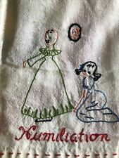 Lot of 2 new vintage hand embroidered tea towels