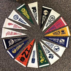 RARE 1970's NHL Pennant Lot Mini X 17 California Golden Seals Buffalo Sabres etc