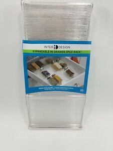 Spice Rack Drawer Organizer Kitchen Storage Jars Holder Expandable Display New
