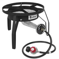 200,000 BTU Outdoor Stove Propane Burner Cooking Gas Portable Cooker BBQ Grill
