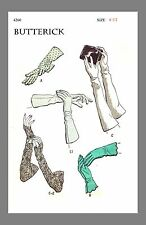 Vintage Butterick Day Or Evening Gloves Fabric material sewing pattern #4260