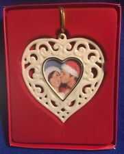New Lenox Ivory Porcelain Heart Frame Ornament Gold Trim 4�or standalone frame