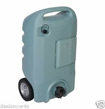RV Portable Waste Tote 15 Gallon With Wheels Gray Sewer Waste Water Tank Camper