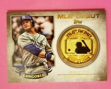 EVAN LONGORIA 2016 TOPPS MLB DEBUT GOLD COIN COMMEMORATIVE MEDALLION CARD