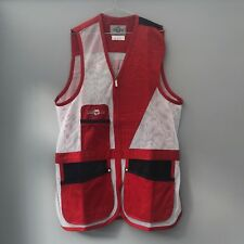 Castellani shooting vest - LH - Red and White - various sizes