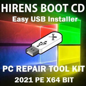 WINDOWS 10 HIREN'S BOOT CD PE 2021 X64 BIT | RECOVERY | RESTORE | REPAIR/PC FIX
