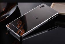 Luxury Aluminum Metal Bumper Case PC Back Mirror Cover For Sony Xperia XA2 XZ2