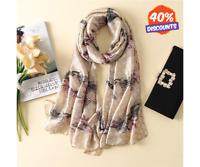 Luxury Brand Silk scarf for Women New Designer Long Scarves Shawls