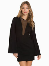 BNWT River Island Black Bell Sleeve Dress Size 10 RRP £75