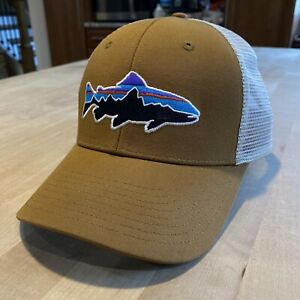 Patagonia Fitz Roy Trout Trucker Hat - New Without Tags - Bear Brown