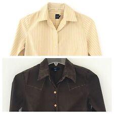 GAP Lot 2 Women's Multi-Color Long Sleeve Collar Button Top Blouse Shirt S S/P
