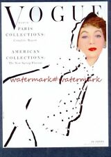 1953 VOGUE MAGAZINE COVER stampa montata. GRATIS UK spese di spedizione. RIF 2225