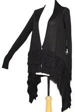 M Oversized Boho Steam Punk Goth Gothic Lolita Cardigan Gypsy Ruffle Sweater Top