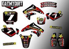 Para adaptarse a Honda CR85 2003 - 2008 kit de gráficos personalizados Calcomanías Pegatinas Mx Motocross