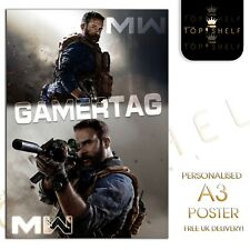 Personalised A3 Call of Duty COD Modern Warfare Gamer poster