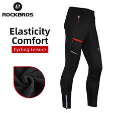ROCKBROS Men's Cycling Pants Windproof Thermal Fleece Winter Bike Pants