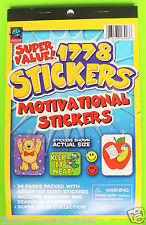 1778 Reward & Motivational Stickers 34pg Book/Pad Grammar School Teacher Awesome
