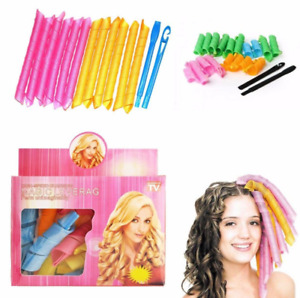 18pcs Magic Spiral Hair Curlers With Styling Hooks Styling Tools