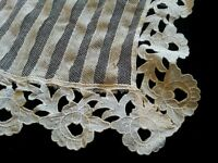 Antique Lace Collar Front Remnant Ecru Dolls Clothes Sewing Fabric Material