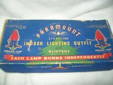 Vintage Paramount Christmas Indoor Lighting Outfit 7 Lights Ge Kliptons in Box