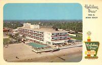 Miami Beach Florida 1960s Postcard Holiday Inn Hotel Motel