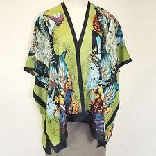NEW NWT Cocoon House Ambrosia Art To Wear 100% Silk Kimono Blouse Large/XL 1X 2X