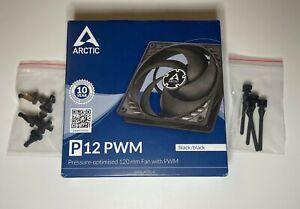 ARCTIC P12 PWM - 120 mm Case Fan with PWM Control + 4 x Anti Vibration Mount