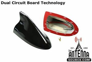 Functional AM/FM BLACK Shark Fin Antenna - FITS: 2009-2013 Infiniti G37