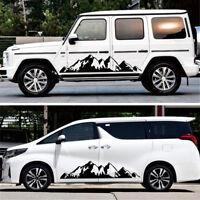 Decal Lattice Car Stickers Body Both Sides Decoration Waterproof 185cmx18cm