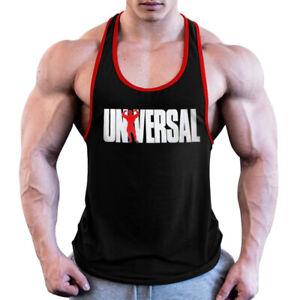 Men Bodybuilding Tank Top Gym Workout Fitness Cotton Sleeveless Stringer Vest