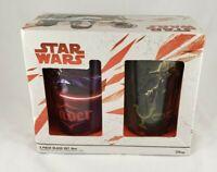 Star Wars 2 Piece Set of 16 oz Pint Glasses Yoda And Darth Vader New
