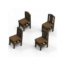 4GROUND - Square back (B) chair from the 1700s in light wood -28mm -28S-FAB-011L