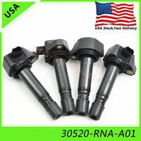 4pcs Denso 30520-RNA-A01 Ignition Coils for 2006-2011 Honda Civic 1.8L 1799CC l4