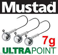 Mustad Jig Heads 7.5g - hook 1, 1/0, 2/0, 3/0, 4/0, 5/0, 6/0 Mustad Ultra Point