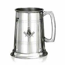 More details for masonic symbol badge on pewter  pint tankard