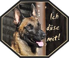 Autoaufkleber Malinois - Sticker Belgischer Schäferhund