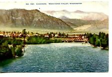 Scenic Water-Small Town Cashmere-Wenatchee Valley-Washington-Vintage Postcard