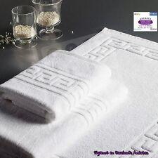 Toallas y Alfombras de baño de Hosteleria 100%Algodón con Greaca romana 450gr/m²