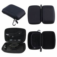 For TomTom VIA 1435 Hard Case Carry With Accessory Storage GPS Sat Nav Black