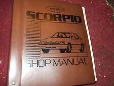 NOS 1988 MERKUR SCORPIO FACTORY SHOP SERVICE MANUAL IN BINDER W SUPPLEMENT BOOK