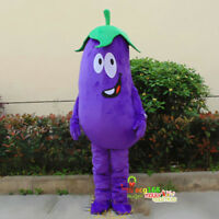 Cosplay Unisex Eggplant Mascot Costume Adversting Party Vegetables Dress Outfits
