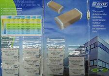 Lote de 220 condensadores CMS - Syfer Oleada Protección and Safety Cuello SMD